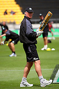 Black Caps coach John Bracewell, who deflected recent criticism with a comfortable win against a misfiring England side.<br /> One-day International Cricket Match. New Zealand v England. Westpac Stadium, Wellington, New Zealand. Saturday 9 January 2008. Photo: Dave Lintott/PHOTOSPORT