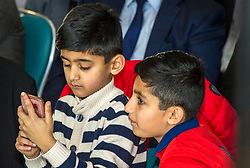 Pictured: Seffi and Adam Sarwar were there to support their father Anas<br /> The Scottish Labour leadership candidate Anas Sarwar presented his vision for Scotland's future today in Edinburgh.<br /> <br /> Ger Harley | EEm 25 October 2017