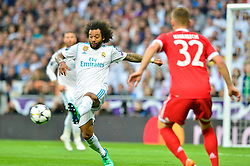 May 2, 2018 - Madrid, Spain - MADRID, SPAIN. May 1, 2018 - Marcelo in action. With a 2-2 draw against Bayern Munchen, Real Madrid made it to the UEFA Champions League Final for third time in a row. Kimmich and James scored for the german squad while Karim Benzema did it twice for los blancos. Goalkeeper Keylor Navas had a great night with several decisive interventions. (Credit Image: © VW Pics via ZUMA Wire)