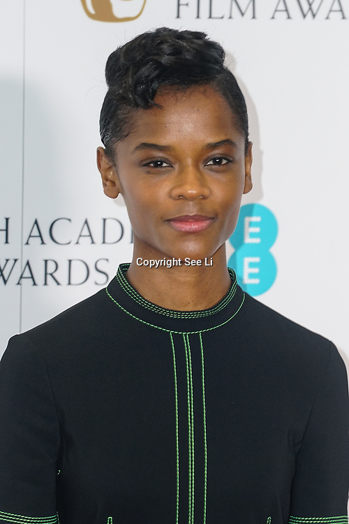 London, England, UK. 9th January 2018.Letitia Wright attend EE British Academy Film Awards Nominations, London, UK