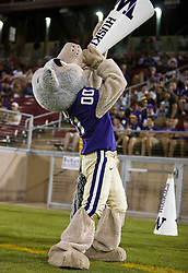 September 26, 2009; Stanford, CA, USA;  The Washington Huskies mascot during the fourth quarter against the Stanford Cardinal at Stanford Stadium. Stanford won 34-14.