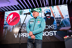 Goran Janus at press conference of Slovenian Nordic Ski team after seasn 2017-18 with main sponsor Mercator, on March 28, 2018 in Maximarket, Ljubljana, Slovenia. Photo by Matic Klansek Velej / Sportida