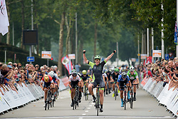 Kirsten Wild wins sprint finish ahead of Maria Giulia Confalonieri and Lisa Brennauer at Boels Rental Ladies Tour Stage 2 a 132.8 km road race from Eibergen to Arnhem, Netherlands on August 30, 2017. (Photo by Sean Robinson/Velofocus)