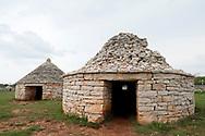 Kažuni (traditional dry stone shepherd's huts), Vodnjan, Istria, Croatia © Rudolf Abraham