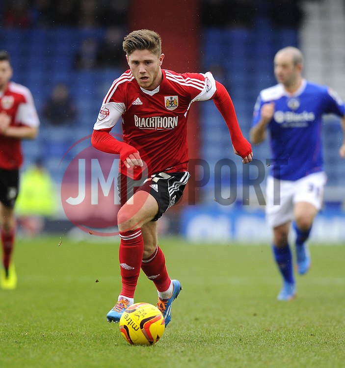Bristol City's Wes Burns - Photo mandatory by-line: Joe Meredith/JMP - Tel: Mobile: 07966 386802 08/02/2014 - SPORT - FOOTBALL - Oldham - Boundary Park - Oldham Athletic v Bristol City - Sky Bet League One