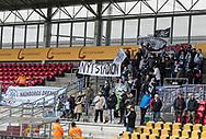 FODBOLD: FC Helsingør fans før kampen i ALKA Superligaen mellem FC Helsingør og AC Horsens den 18. februar 2018 på Right to Dream Park i Farum. Foto: Claus Birch.
