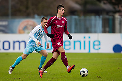 Dejan Vokic of NK Triglav during football match between NK Triglav Kranj and ND Gorica in Round #24 of Prva Liga Telekom Slovenije 2017/18, on March 18, 2018 in Sportni park Kranj, Kranj, Slovenia. Photo by Ziga Zupan / Sportida