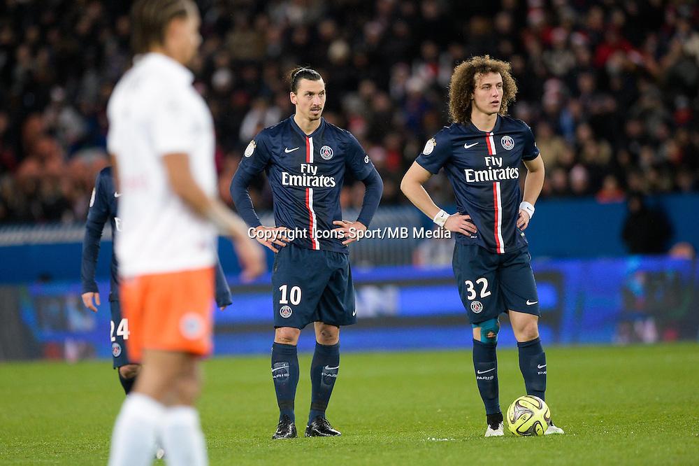 Zlatan IBRAHIMOVIC / David LUIZ - 20.12.2014 - Paris Saint Germain / Montpellier - 17eme journee de Ligue 1 -<br />Photo : Aurelien Meunier / Icon Sport