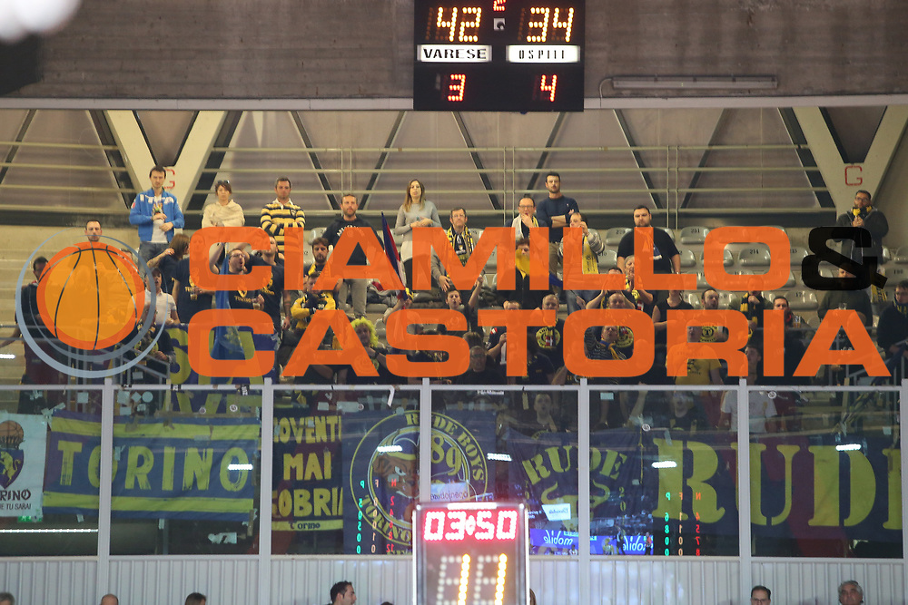 tifosi Fiat Torino<br /> Openjobmetis Varese - Fiat Torino<br /> Lega Basket Serie A 2017/2018<br /> Varese, 14/01/2018<br /> Foto Ciamillo - Castoria