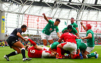 Rugby Union - 2019 pre-Rugby World Cup warm-up (Guinness Summer Series) - Ireland vs. Wales<br /> <br /> James Ryan (Ireland) goes over for a try at The Aviva Stadium.<br /> <br /> COLORSPORT/KEN SUTTON