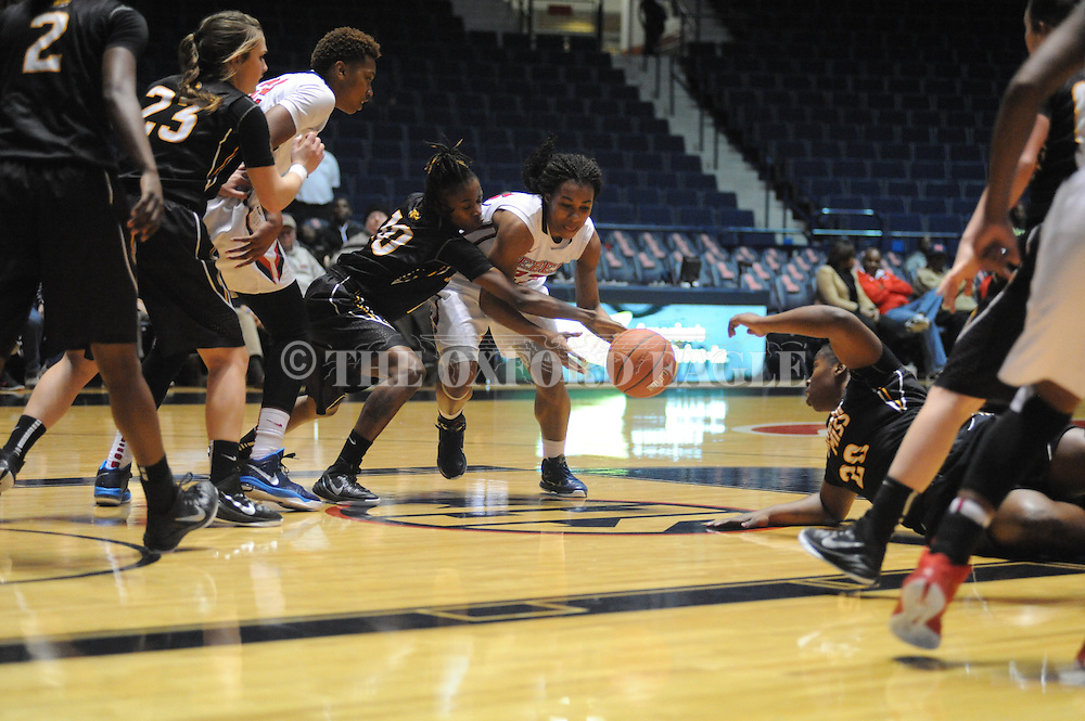 """Ole Miss vs. Southern Mississippi at the C.M. """"Tad"""" Smith Coliseum in Oxford, Miss. on Thursday, December 18, 2014. (AP Photo/Oxford Eagle, Bruce Newman)"""