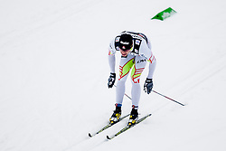 Alex Hervay of Canada in black shirt during mens 10km Classic individual start of the Tour de Ski 2014 of the FIS cross country World cup on January 4th, 2014 in Cross Country Centre Lago di Tesero, Val di Fiemme, Italy. (Photo by Urban Urbanc / Sportida)