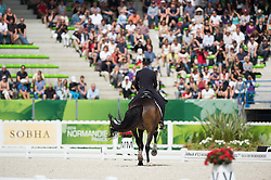 Steffen Peters, (USA), Legolas 92 - Freestyle Grand Prix Dressage - Alltech FEI World Equestrian Games™ 2014 - Normandy, France.<br /> © Hippo Foto Team - Jon Stroud<br /> 25/06/14