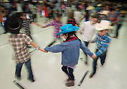 "Lyons Elementary School first graders students perform ""Dance Across Texas"" for parents and staff to kick off Go Texan week, February 24, 2014."