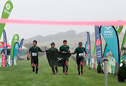 UK ENGLAND 29JUL17 - Team 1RGR arrive as winners at the finish line on Brighton Racecourse after the Trailwalker 2017 challenge across the South Downs, England. They completed the 100Km race in 10 hours and 51 minutes.<br /> <br /> jre/Photo by Jiri Rezac<br /> <br /> &copy; Jiri Rezac 2017