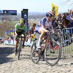 03-04-2016: Wielrennen: Ronde van Vlaanderen vrouwen: Oudenaarde  <br />OUDENAARDE (BEL) cycling  The sixth race in the UCI Womensworldtour is the ronde van Vlaanderen. A race over the famous Flemish climbs. Paterberg, Megan Gaunier, Rosella Ratto