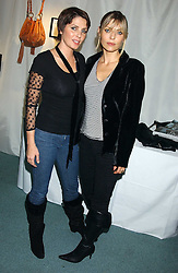 Left to right, SADIE FROST and JEMIMA FRENCH at Reach 4 Fashion 2005 in aid of the REACH Leukaemia Appeal hosted by designers Sadie Frost and Jemima French of fashion label FrostFrench held at 88 St.James' Street, London SW1 on 8th November 2005.<br />