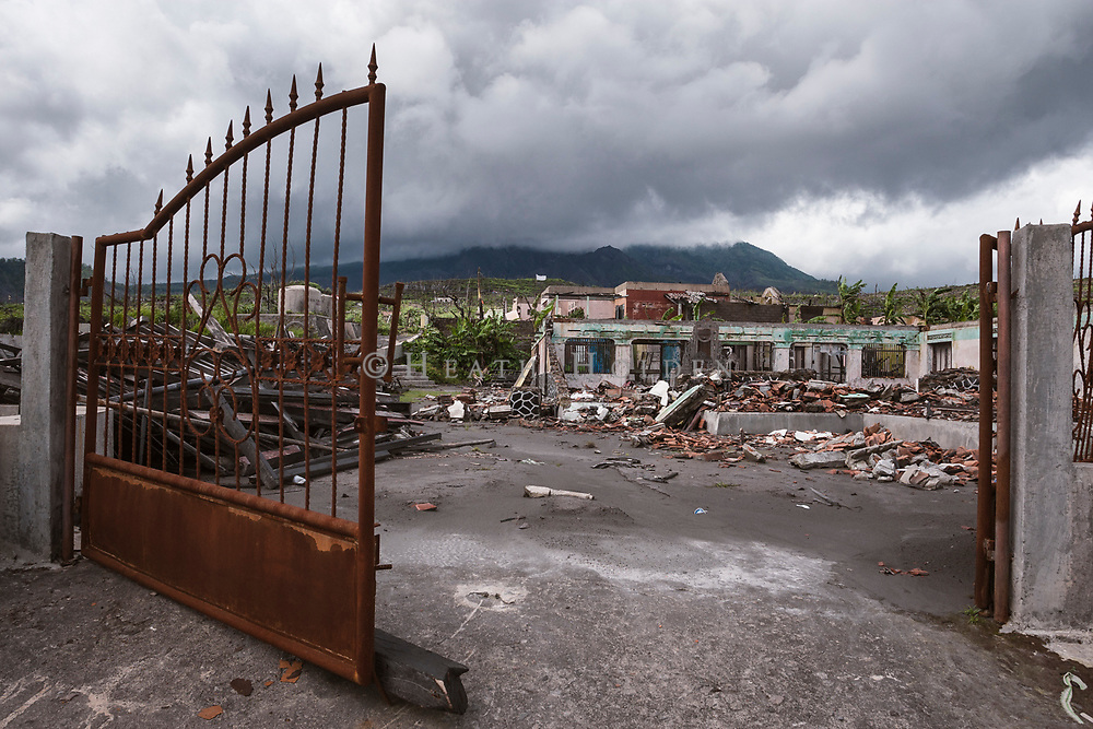Damage to houses in the village from the Mt Merapi 2010 eruption.