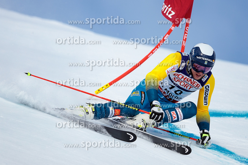17.02.2017, St. Moritz, SUI, FIS Weltmeisterschaften Ski Alpin, St. Moritz 2017, Riesenslalom, Herren, 1. Lauf, im Bild Andre Myhrer (SWE) // Andre Myhrer of Sweden in action during his 1st run of men's Giant Slalom of the FIS Ski World Championships 2017. St. Moritz, Switzerland on 2017/02/17. EXPA Pictures © 2017, PhotoCredit: EXPA/ Johann Groder