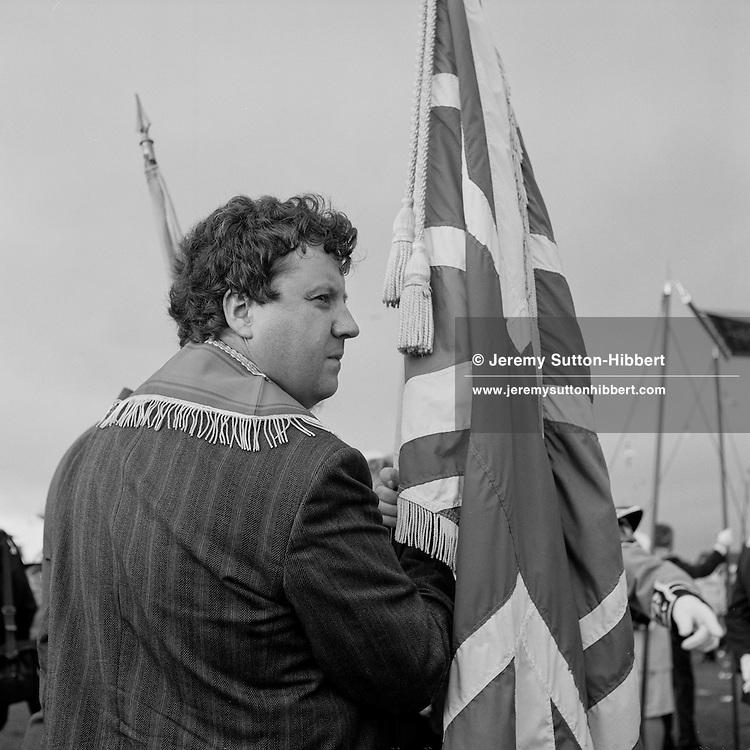 Loyalist Orange Walks in Saltcoats, Scotland, in July 1993.