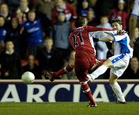 Photo: Jed Wee.<br /> Middlesbrough v Nuneaton Borough. The FA Cup. 17/01/2006.<br /> <br /> Middlesbrough's Stuart Parnaby fires in their third goal.