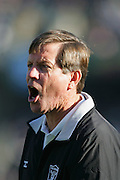 OAKLAND, CA - DECEMBER 19:  Head Coach Norv Turner of the Oakland Raiders yells at officials during a controversial play that was reviewed and overturned in favor of the Tennessee Titans at Network Associates Coliseum on December 19, 2004 in Oakland, California. The Raiders defeated the Titans 40-35. ©Paul Anthony Spinelli *** Local Caption *** Norv Turner