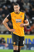 Jake Livermore  during the Capital One Cup match between Hull City and Swansea City at the KC Stadium, Kingston upon Hull, England on 22 September 2015. Photo by Ian Lyall.