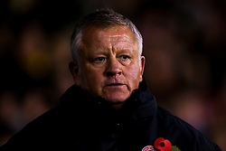 Sheffield United manager Chris Wilder - Mandatory by-line: Robbie Stephenson/JMP - 09/11/2018 - FOOTBALL - Bramall Lane - Sheffield, England - Sheffield United v Sheffield Wednesday - Sky Bet Championship