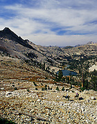 Idaho. Trail riders in Idaho's Sawtooth Wilderness approaching Snowyside Pass Editorial Use Only.