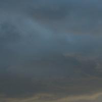 Stormy evening sky with some blue peeking through