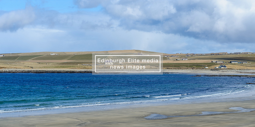 """The Bay of Skaill, Orkney.   Skara Brae is a stone-built Neolithic settlement, located on the Bay of Skaill on the west coast of Mainland, the largest island in the Orkney archipelago of Scotland. It consists of eight clustered houses, and was occupied from roughly 3180 BC to2500 BC. Europe's most complete Neolithic village, Skara Brae gained UNESCO World Heritage Site status as one of four sites making up """"The Heart of Neolithic Orkney.""""a Older than Stonehenge and the Great Pyramids, it has been called the """"Scottish Pompeii"""" because of its excellent preservation.<br /> <br /> (c) Andrew Wilson   Edinburgh Elite media"""