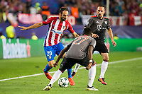 Atletico de Madrid's player Juanfran Torres and Bayern Munich's players Franck Ribery and David Alaba during match of UEFA Champions League at Vicente Calderon Stadium in Madrid. September 28, Spain. 2016. (ALTERPHOTOS/BorjaB.Hojas)