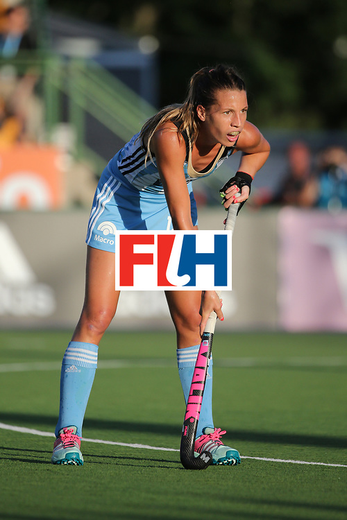 ROSARIO, ARGENTINA - DECEMBER 13:   Delfina Merino of Argentina in action during the final match between Argentina and New Zealand on day 9 of the Hockey World League Final on December 13, 2015 in Rosario, Argentina.  (Photo by Chris Brunskill/Getty Images)