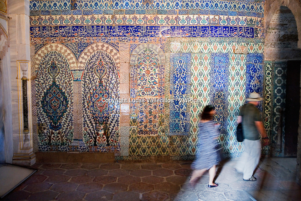 Topkapi Palace, Harem. Corridor between Imperial Hall and Courtyard of Favourites .Istanbul, Turkey