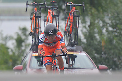 September 15, 2017 - Chenghu City, United States - Kazushige Kuboki from Nippo - Vini Fantini team during the fourth stage of the 2017 Tour of China 1, the 3.3 km Chenghu Jintang individual time trial. .On Friday, 15 September 2017, in Jintang County, Chenghu City,  Sichuan Province, China. (Credit Image: © Artur Widak/NurPhoto via ZUMA Press)