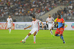 September 1, 2017 - Tunis, Tunisia - Youssef M'sakni(7) of Tunisia and Mangulu  Chancel(22)of Congo  during the qualifying match for the World Cup Russia 2018 between Tunisia and the Democratic Republic of Congo (RD Congo) at the Rades stadium in Tunis. (Credit Image: © Chokri Mahjoub via ZUMA Wire)