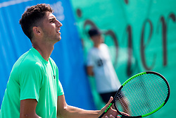 Altug Celikbilek (TUR) play against David Poljak (CZE) at ATP Challenger Zavarovalnica Sava Slovenia Open 2018, on August 6, 2018 in Sports centre, Portoroz/Portorose, Slovenia. Photo by Urban Urbanc / Sportida