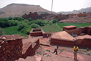 Morocco, A village in the high Atlas Mountains