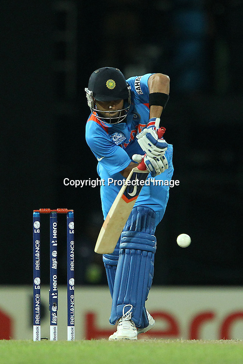 Virat Kholi during the ICC World Twenty20 Super 8s match between Australia and India held at the Premadasa Stadium in Colombo, Sri Lanka on the 28th September 2012<br /> <br /> Photo by Ron Gaunt/SPORTZPICS