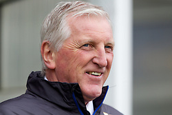 BURY, ENGLAND - Saturday, March 31, 2012: Tranmere Rovers' manager Ronnie Moore before the Football League One match against Bury at Gigg Lane. (Pic by Vegard Grott/Propaganda)