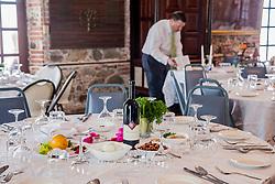 Passover Seder with The Hebrew Congregation of St. Thomas led by Rabbi Mike Harvey at Lillienfeld House.   St. Thomas, USVI.  22 April 2016.  © Aisha-Zakiya Boyd