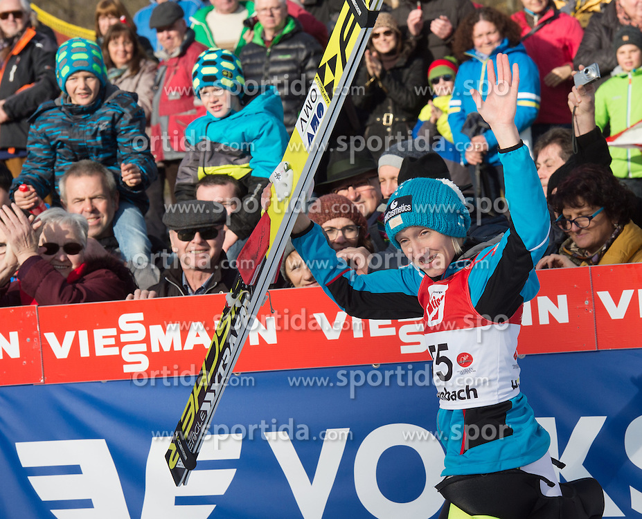 07.02.2016, Energie AG Skisprung Arena, Hinzenbach, AUT, FIS Weltcup Ski Sprung, Hinzenbach, Damen, Bewerb, im Bild Daniela Iraschko-Stolz (AUT) // during Ladies Skijumping Competition of FIS Skijumping World Cup at the Energie AG Skisprung Arena, Hinzenbach, Austria on 2016/02/07. EXPA Pictures © 2016, PhotoCredit: EXPA/ Reinhard Eisenbauer