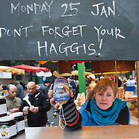LONDON, ENGLAND - JANUARY 23:  Haggis is sold at a butcher shop to people who will celebrate Burns night on Monday on January 23, 2010 in London, England. Scots across the world annually celebrate on January 25th the life of Robert Burns, the country's most famous bard, with recitations of his poetry, the eating of haggis and imbibing of whisky.  (Photo by Marco Secchi/Getty Images)