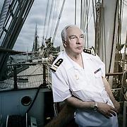 DIDIER DECOIN. Réunion des Ecrivains de Marine à Bayonne. A bord du 3 Mâts Belem.