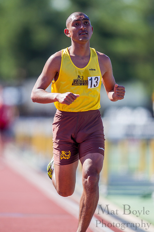Rowan University sophomore Raj Singh competes in men's 10,000 meters at the NJAC Track and Field Championships at Richard Wacker Stadium on the campus of  Rowan University  in Glassboro, NJ on Saturday May 4, 2013. (photo / Mat Boyle)