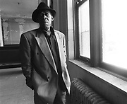 "James Carr in Memphis, August 1991. Memphis soul legend Carr died Sunday, January 7, 2001 of cancer at Court Manor Nursing Home in Memphis. He was 58. Best known for his classic reading of The Dark End of the Street, Mr. Carr's work in the '60s for Memphis label Goldwax is considered among the most important soul from that era. Born in Coahoma County, Miss., in 1942, Mr. Carr - a minister's son - began singing at 7 in the choir at Greater Mount Pleasant Baptist Church. He later performed in several gospel groups, including the Harmony Echoes with O. V. Wright. The two singers auditioned for Stax in the early '60s but the label's roster was full. They were steered toward a new company, Goldwax, started in 1964 by Hi co-founder Quinton Claunch.  James Carr's 1967 recording of ""The Dark End of the Street"" — a Southern soul classic was included among the 26 tracks that will be added to the Grammy's roll call of all-time great records."