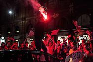 Caroselli ed esultanza per la salvezza del Palermo dopo la vittoria, nell&rsquo;ultima di campionato, contro l&rsquo;Hellas Verona per 3 a 2.<br /> <br /> Palermo secured their Serie A status for next season by beating bottom club Verona 3-2. Thousands of Rosanero supporters celebrated in the streets of Palermo.