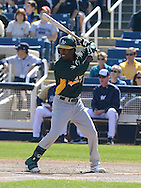 PHOENIX, AZ - FEBRUARY 23:  Jemile Weeks #19 of the Oakland Athletics bats in the spring training game against the Milwaukee Brewers at Maryvale Baseball Park on February 23, 2013 in Phoenix, Arizona.  (Photo by Jennifer Stewart/Getty Images) *** Local Caption *** Jemile Weeks