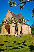France, Aquitaine, Dordogne (24), Perigord Noir, vallee de la Dordogne, Carsac-Aillac, eglise Saint-Caprais, XIIe- XIVe siecle // France, Aquitaine, Dordogne, Perigord Noir, Dordogne valley, Dordogne river, Carsac-Aillac, Saint-Caprais church, 12 century