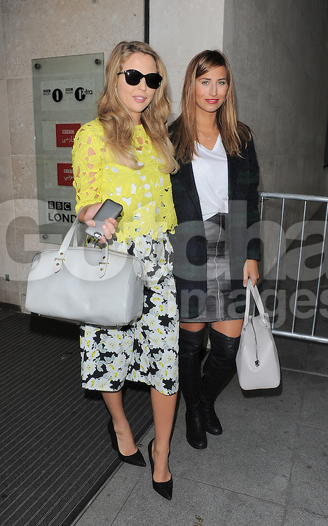 TOWIE stars Lydia Bright and Ferne McCann leaving BBC Radio 1 in central London, UK. 03/10/2014<br />BYLINE MUST READ : GOTCHAIMAGES.COM<br /><br />Copyright by &copy; Gotcha Images Ltd. All rights reserved.<br />Usage of this image is conditional upon the acceptance <br />of Gotcha Images Ltd, terms and conditions available at<br />www.gotchaimages.com